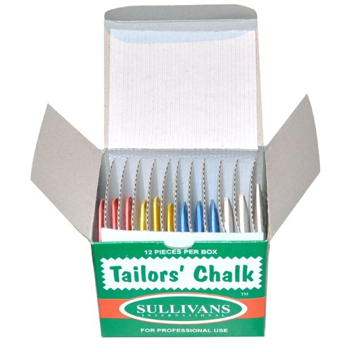 Sullivans Professional Tailors Chalk for Fabric 12-piece for Quilting Crafting Sewing