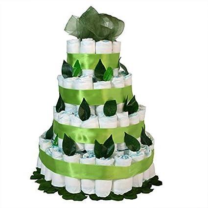 Tarta de pañales originales Dodot - Maxi verde - Mil Cestas ...