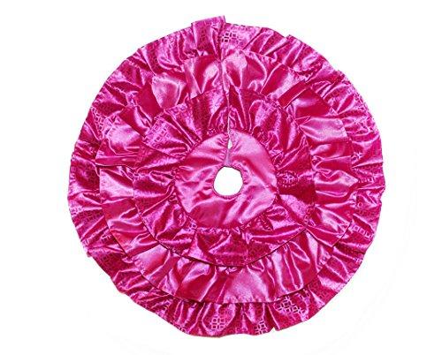 "18"" Inch Mini Ruffle Christmas Tree Skirt (Pink)"