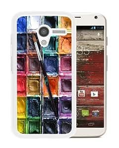 Custom Design Water color paint set White Motorola Moto X Phone Case