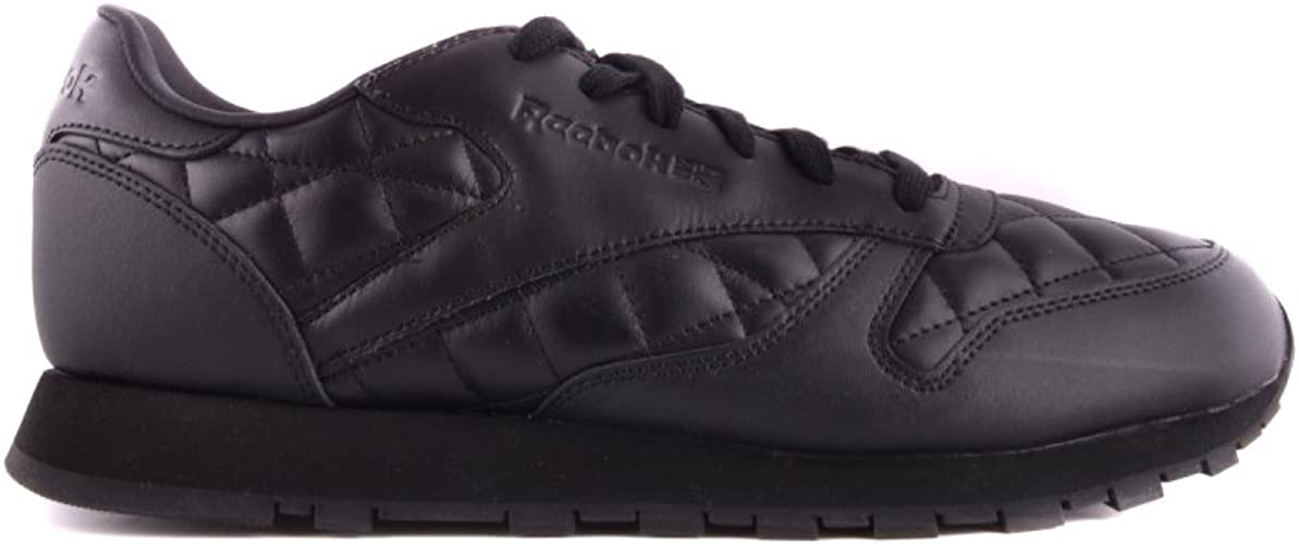 Reebok Classic Leather Quilted Femme Baskets Mode Noir
