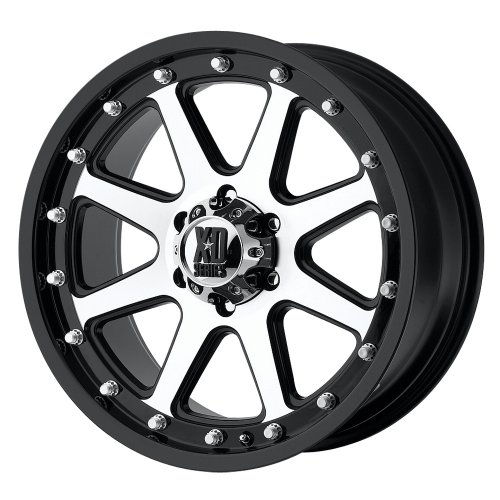 XD Series by KMC Wheels XD798 Addict Matte Black Wheel With Machined Accents (17x9