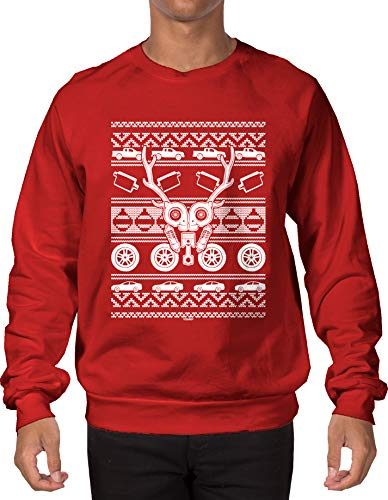 Car Parts Reindeer Ugly Christmas Sweatshirt
