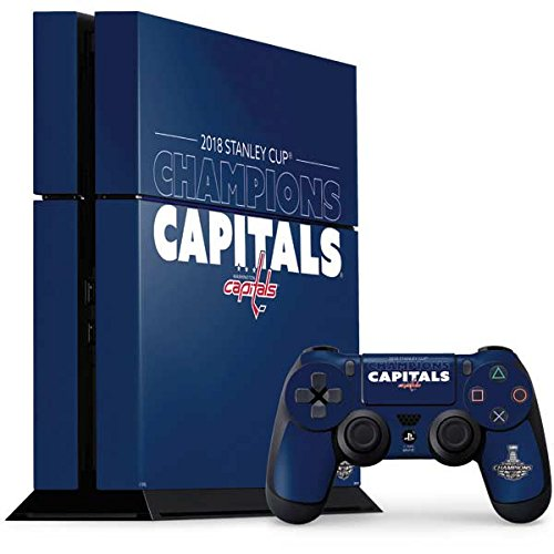 Skinit NHL Washington Capitals PS4 Console and Controller Bundle Skin - 2018 Stanley Cup Champions Capitals Design - Ultra Thin, Lightweight Vinyl Decal Protection