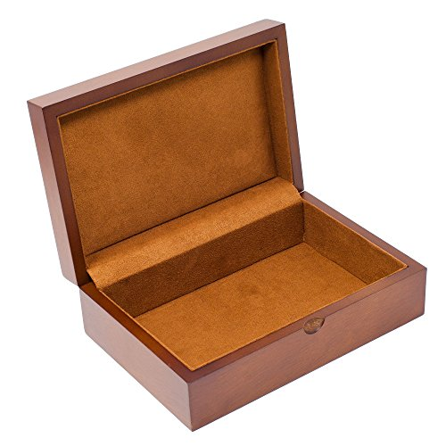 Wood Keepsake Box - Caddy Bay Collection Memory Keepsake Mementos Jewelry Wood Gift Box Chest – Vintage Brown
