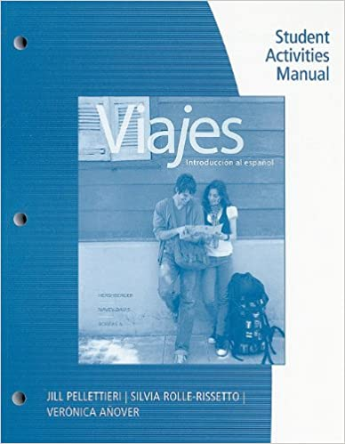 Amazon student activities manual for viajes introduccion al amazon student activities manual for viajes introduccion al espanol brief edition 9781428289871 jill pellettieri silvia rolle rissetto fandeluxe Images