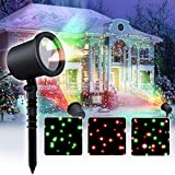 Star Laser Christmas Light Show Outdoor Decorations, Waterproof Landscape Lighting