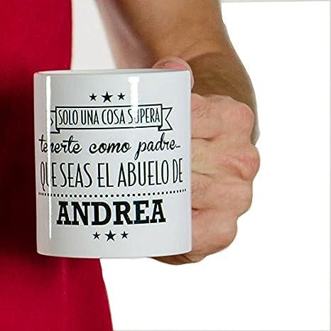 Regalo personalizable para padres: taza para el mejor padre y abuelo personalizada con el nombre de su nieto: Amazon.es: Hogar
