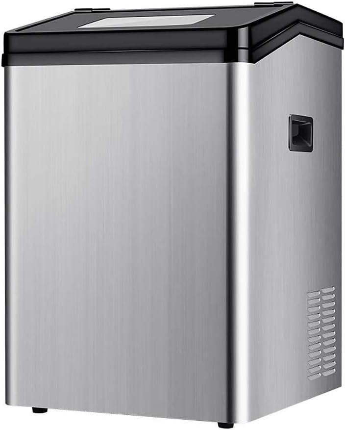 ステンレス鋼のカウンター業務用製氷機、ポータブルアイスキューブマシン、15分で44アイスキューブレディ - 24時間で110Ibsアイスを作ります