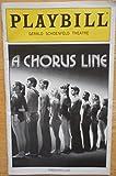 img - for A CHORUS LINE - PLAYBILL - AUGUST 2008 book / textbook / text book