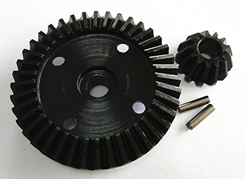 Gear Steel Bevel Diff - Raidenracing Steel Diff Ring Pinion Bevel Gear 40T/13T for HPI Bullet ST MT SAVAGE XS WR8 Flux