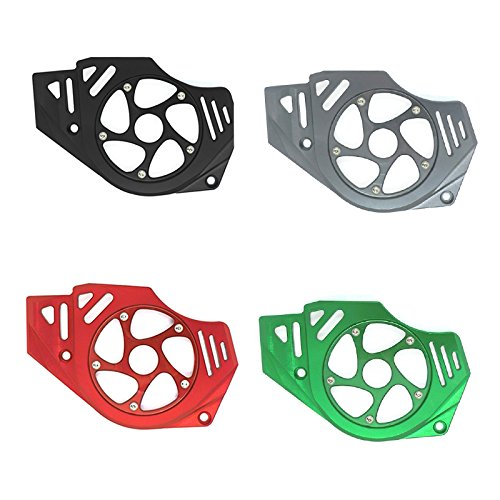 Engine Chain Cover - FATExpress Motorcycle Billet CNC Aluminum Front Chain Guard Sprocket Engine Cover For Kawasaki Ninja Versys Vulcan S 650 2006 2007 2008 2009 2010 2011 2012 2013 2014 2015 2016 (Black)