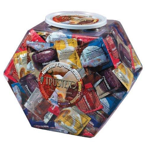 Asst. Flavor Condom Bowl (288) (Package Of 3) by Top Cat International