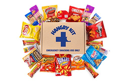 SALTY Hangry Kit Snack Sampler - Care Package - Gift Pack - Variety of 20 Chips, Nuts & Crackers Included - 100%