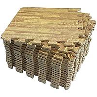 Mocosy 30 x 30 x 1 cm in elkaar grijpende vloermatten houtnerf matten oefenmatten puzzel vloertegels beschermende…