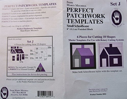 Marti Michell Perfect Patchwork Templates Set J Small Schoolhouse 6
