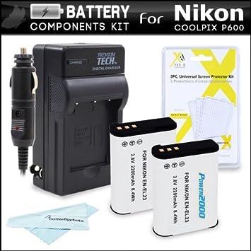 Amazon.com: Kit de cargador y batería para cá ...