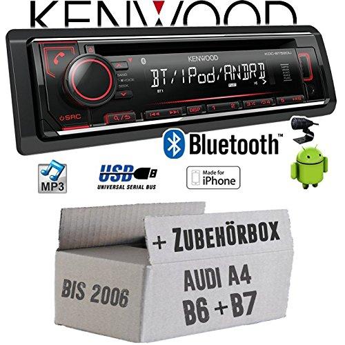 Audi A4 B6 B7 - Autoradio Radio Kenwood KDC-BT520U - Bluetooth CD/MP3/USB - Einbauzubehö r - EINBAUSET JUST SOUND best choice for caraudio AuA4B67_KDC-BT520U
