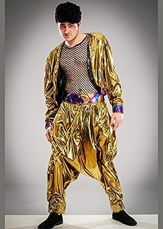 Disfraz de martillo estilo martillo MC para hombre de los años 80