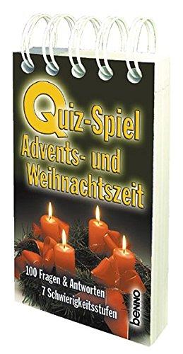 Quiz-Spiel Advents- und Weihnachtszeit: 100 Fragen & Antworten . 7 Schwierigkeitsstufen