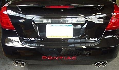 Rear bumper inlay pontiac decal 2004 2008 pontiac grand prix color