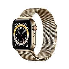 Nuevo Apple Watch Series 6 (GPS + Cellular, 40 mm) Caja de acero inoxidable en oro - Pulsera Milanese Loop en oro