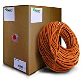 GearIT 1000 Feet Bulk Cat6 Ethernet Cable - Cat 6e 550Mhz 24AWG Full Copper Wire UTP Pull Box - In-Wall Rated (CM) Stranded Cat6, Orange