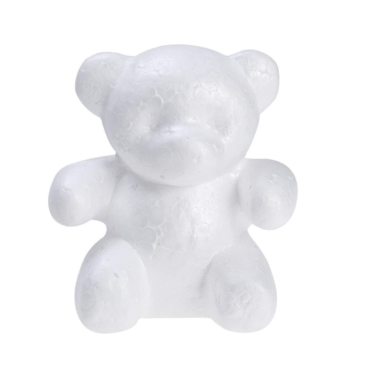 10cm Wei/ß BESTOYARD Polystyrol B/är Schaum B/är Form f/ür Kinder DIY Handwerk Valentinstag Geschenk 15