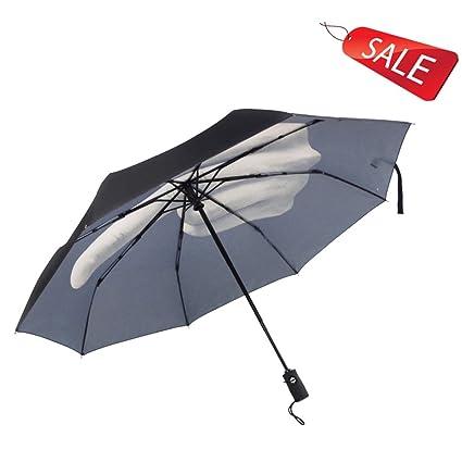 Umbrella Vertical personalidad creativa paraguas de los dedos medio masculino automático plegables plegables clima de doble