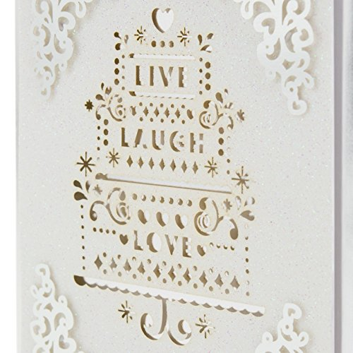 Hallmark Signature Wedding Greeting Card (Live Laugh Love)