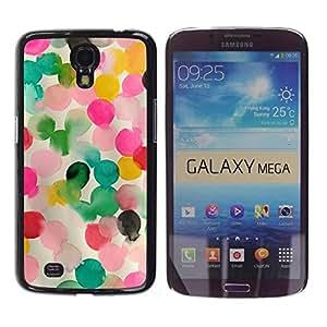 FECELL CITY // Duro Aluminio Pegatina PC Caso decorativo Funda Carcasa de Protección para Samsung Galaxy Mega 6.3 I9200 SGH-i527 // Pink Mother Kids Mom Child