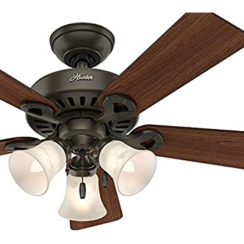 Hunter Fan 44 Inch Traditional New Bronze Finish Ceiling
