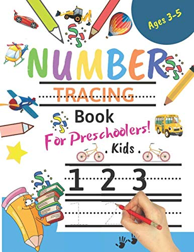 Halloween Kids Clipart (Number Tracing Book for Toddlers Ages 3-5: Number tracing books for kids ages 3-5,Number tracing workbook,Number Writing Practice Book,Number Tracing ... Great Gift for Toddlers and)