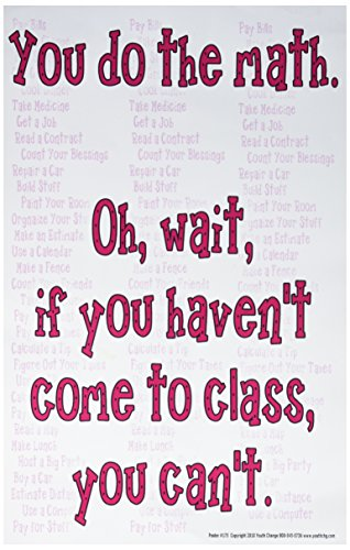 Poster #175 Math Classroom Motivational, Inspirational for High, Middle, Elementary: You Do the Math