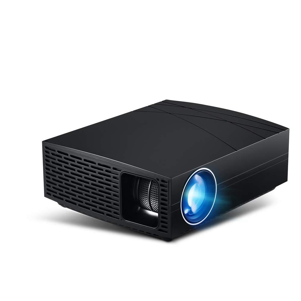 プロジェクター、ビデオミニポータブルプロジェクター3800ルーメンデュアル内蔵スピーカー3万時間 LED 寿命サポート HD 1080p HDMI/VGA/TF/AV/USB/テレビボックス B07QWXZRWM