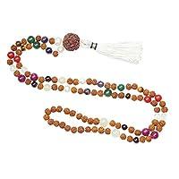 Chakra Beads Necklace Japamala 108 Rudraksha Meditation Malas Healing Japa Mala