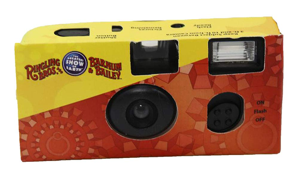 Ringling Bros 35mm Disposable Film Camera Flash 27 Exp ISO 800 Vintage Retro by Ringling