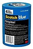 ScotchBlue Original Multi-Surface Painter's Tape,  1.41 inch x 60 yard, 2090, 4 Rolls