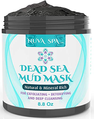 Dead Sea Mud Mask for Face, Acne, Oily Skin & Blackheads - Best Facial Pore Minimizer, Reducer & Pores Cleanser Treatment - Natural for Younger Looking Skin (Best At Home Face Mask For Blackheads)