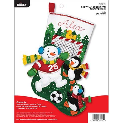 Bucilla 86904E Felt Appliques Christmas Stocking Kit, 18