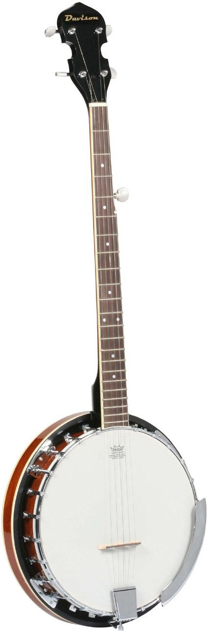 Jameson Guitars BANJO LH 5 String 24 Bracket with Closed Solid & Geared 5th Tuner Back By Left Handed