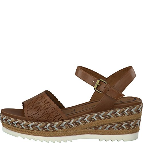 Tamaris Womens Shoes 1-1-28370-28 Comfortable Women's Sandals, Summer Shoes Braun