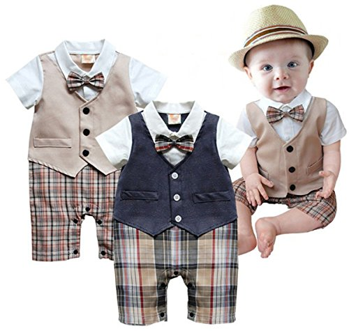 Taiycyxgan Summer Gentleman Rompers Bodysuits product image