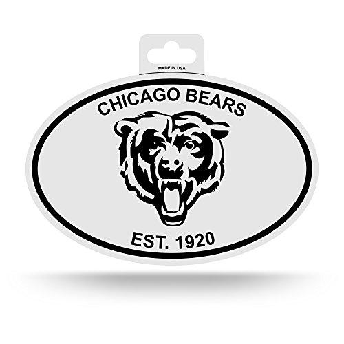 - NFL Chicago Bears Black and White Team Logo Oval Sticker