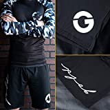 Gold BJJ Jiu Jitsu Shorts - IBJJF Approved No Gi