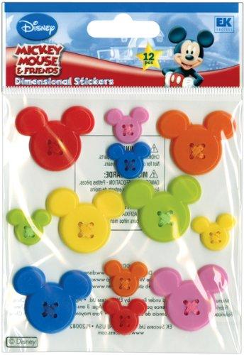 Disney Adhesive Buttons - Disney Mickey Adhesive Buttons - 12 Ct 1 pcs sku# 623860MA