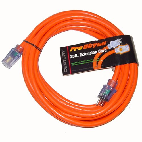 25 Ft 10 Gauge Industrial Electric Extension Power Cord
