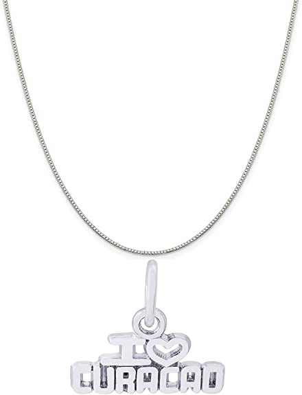 Box or Curb Chain Necklace Rembrandt Charms Sterling Silver Barbados Cruise Ship Charm on a 16 18 or 20 inch Rope