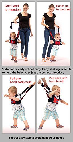 Breathable and Comfortable Safe and Non-Toxic Pulling and Lifting Dual Use Toddler Safety Harness to Prevent Baby Falling TRMB Handheld Baby Walker