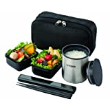 TIGER thermos lunch box black LWY-R024-K (japan import)